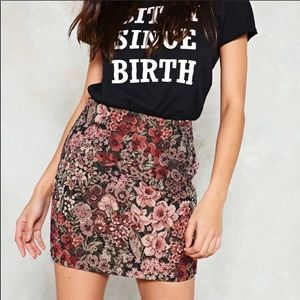 Nasty Gal Garden Path Floral Skirt